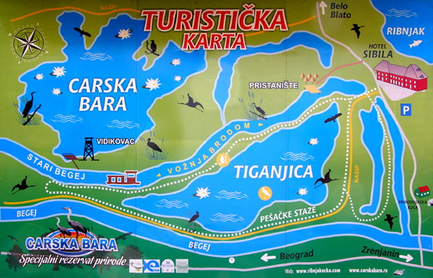 carska bara mapa ISTN   The hunting/fishing tourism carska bara mapa